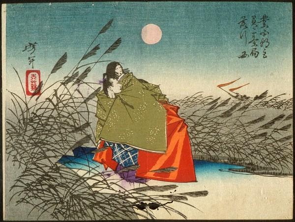 芥川1429px-Tsukioka_Yoshitoshi_-_Narihira_and_Nijo_no_Tsubone_at_the_Fuji_River_-_Google_Art_Project (1)